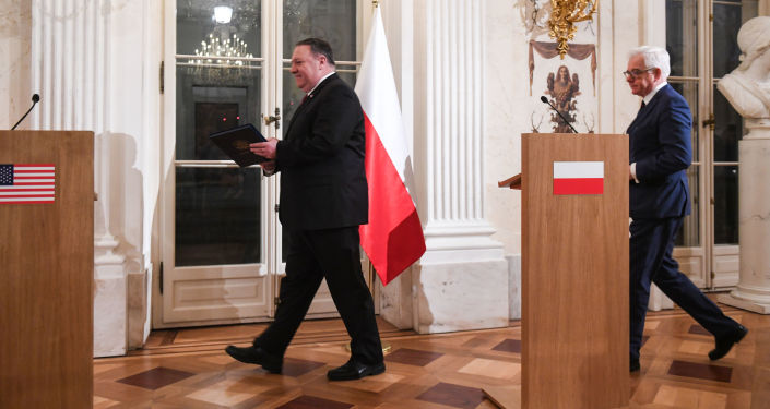 Konferencja sekretarza stanu USA Mike'a Pompeo i szefa MSZ Polski Jacka Czaputowicza w Warszawie