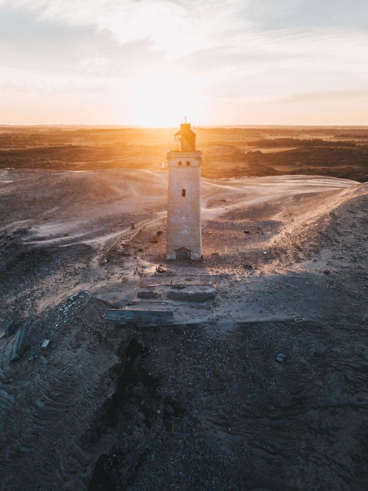 Opuszczona latarnia Knude w Danii