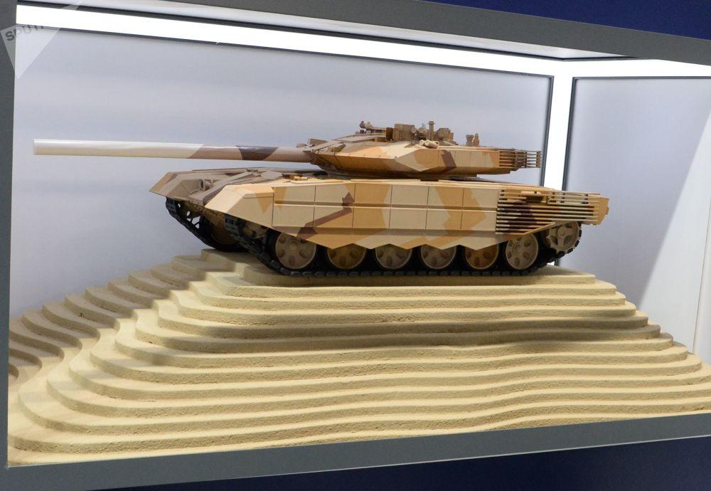 Model rosyjskiego czołgu Т-90МС