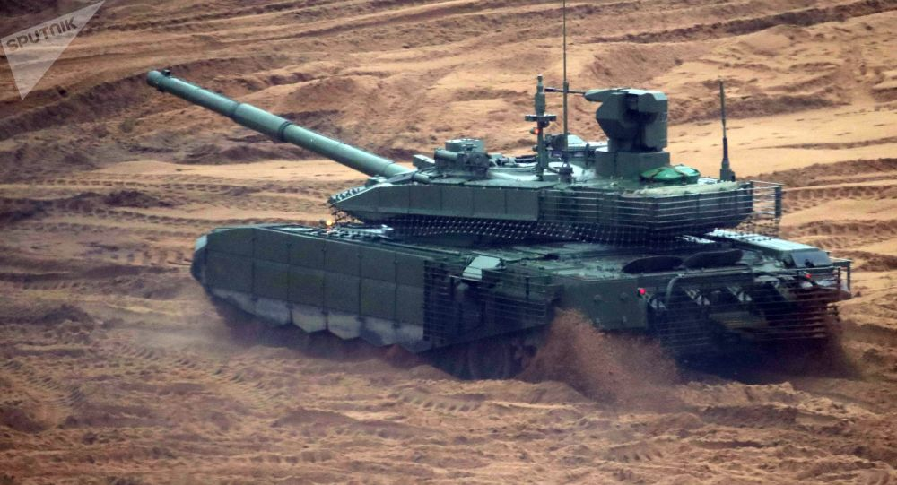 """Czołg T-90MS """"Tagił"""" podczas wspólnych ćwiczeń strategicznych """"Zapad-2017"""""""