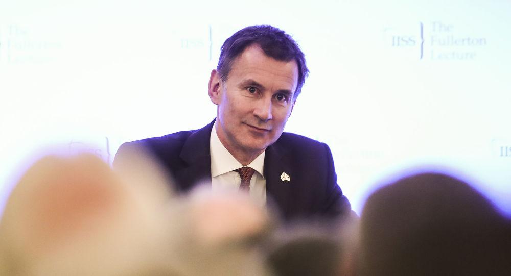 Minister spraw zagranicznych Wielkiej Brytanii Jeremy Hunt