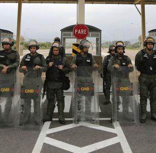 Wenezuelscy żołnierze na granicy