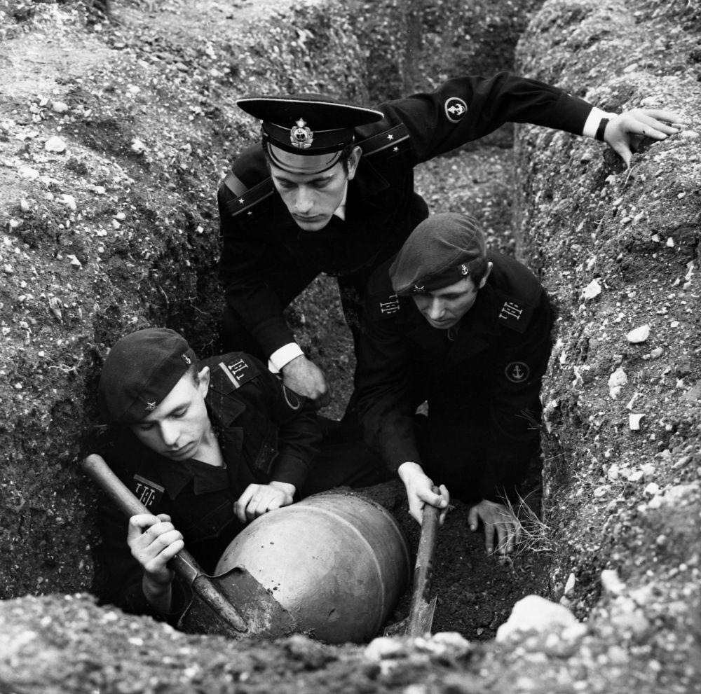 Ćwiczenia piechoty morskiej Floty Czarnomorskiej, 1970 r.