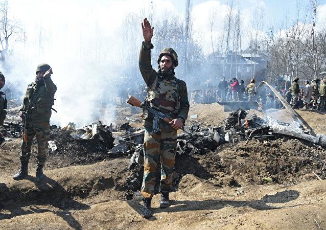 Zestrzelony samolot Sił Powietrznych Indii w Kaszmirze, 27 lutego 2019