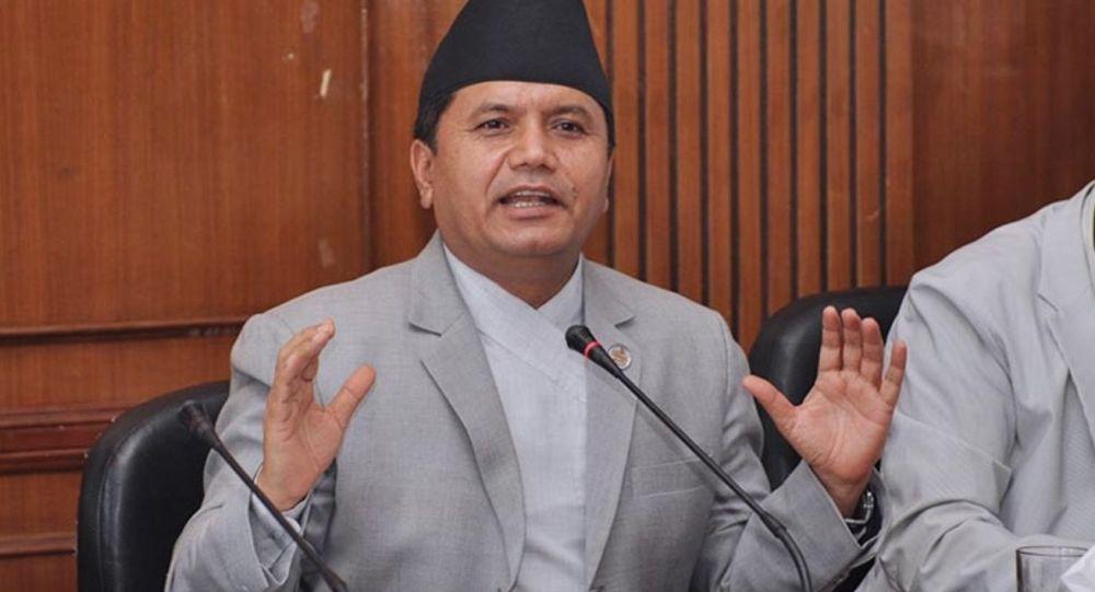 Minister kultury, turystyki i lotnictwa cywilnego Nepalu Rabindra Adhikari