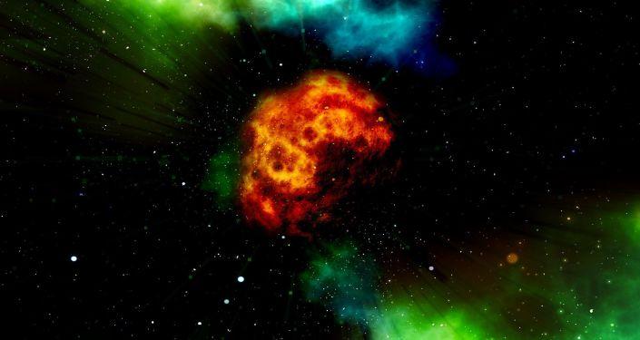 Ognista kula w kosmosie
