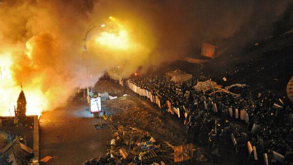 Walki na placu Niepodległości w Kijowie - Sputnik Polska