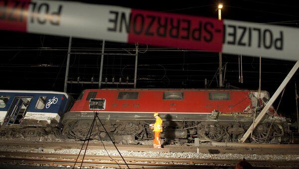 Katastrofa kolejowa w Szwajcarii - Sputnik Polska
