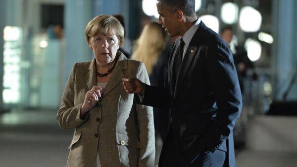 Kanclerz Niemiec Angela Merkel i prezydent USA Barack Obama - Sputnik Polska