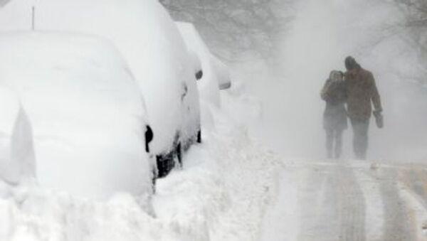 Opady śniegu w Bostonie - Sputnik Polska