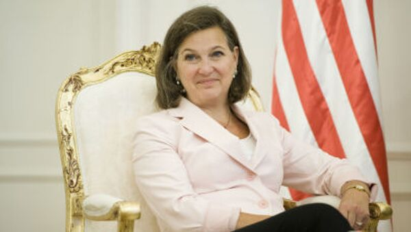 Asystent sekretarza stanu w amerykańskim Departamencie Stanu, szefowa Biura ds. Europy i Eurazji Victoria Nuland - Sputnik Polska