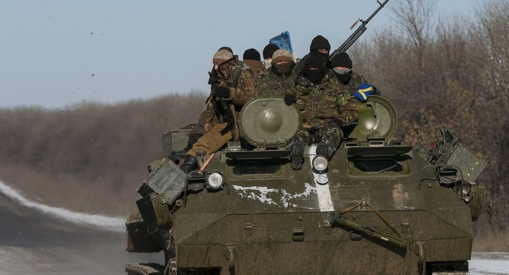 Ukraińscy żołnierze. Debalcewe  na Ukrainie.