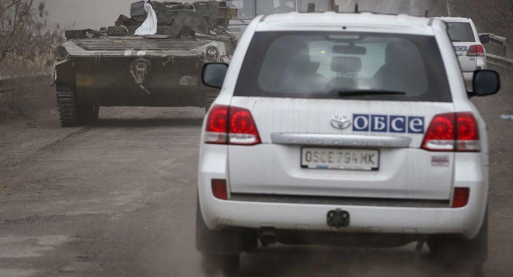Obserwatorzy OBWE w pobliżu Debalcewe