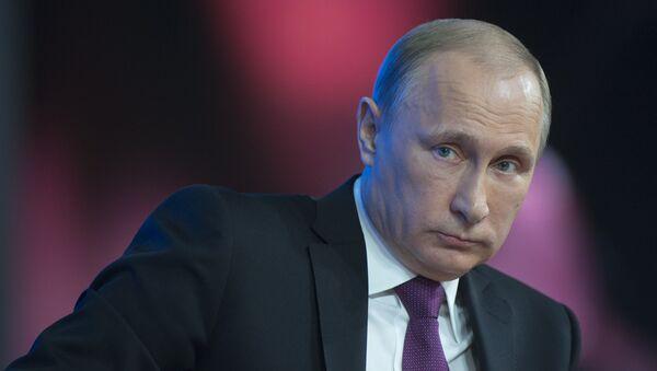 Putin, konferencja prasowa, 2014 - Sputnik Polska