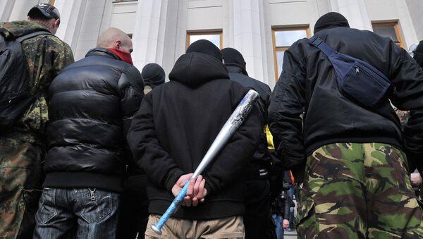 Zwolennicy Prawego Sektora, Kijów, marzec 2014 roku - Sputnik Polska
