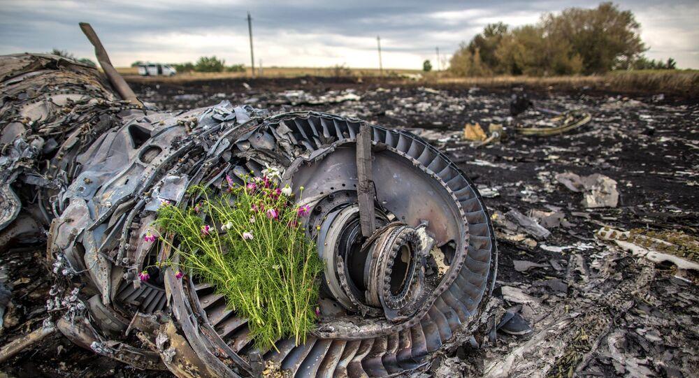 Kwiaty na miejscu katastrofy Boeinga-777, sierpień 2014, Ukraina