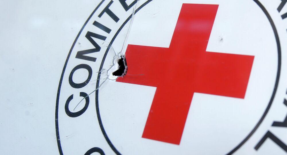 Symbol Flaga Międzynarodowego Komitetu Czerwonego Krzyża