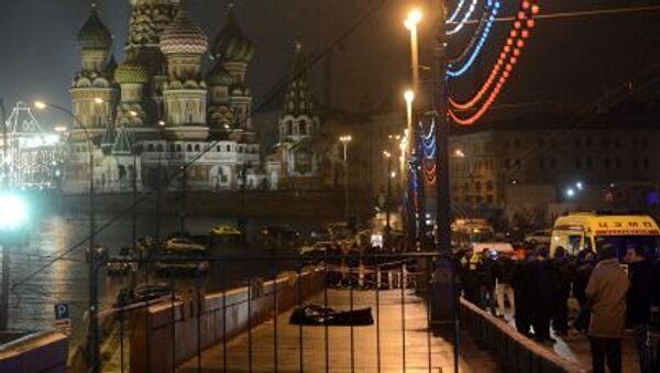 Zabójstwo rosyjskiego opozycjonisty Borysa Niemcowa w centrum Moskwy. - Sputnik Polska