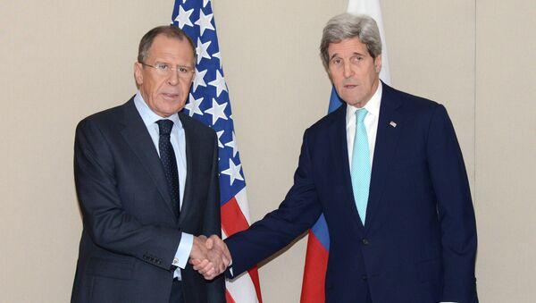 Rosyjski minister spraw zagranicznych Siergiej Ławrow i sekretarz stanu USA John Kerry - Sputnik Polska
