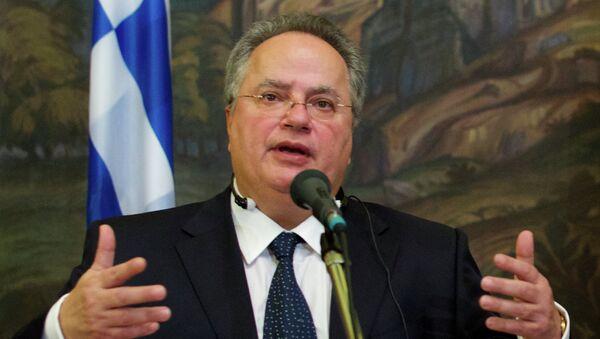 Minister Spraw Zagranicznych Grecji Nikos Kodzias - Sputnik Polska