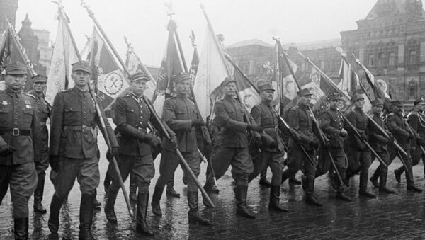 Żołnierzy Wojska Polskiego na Placu Czerwonym - Sputnik Polska