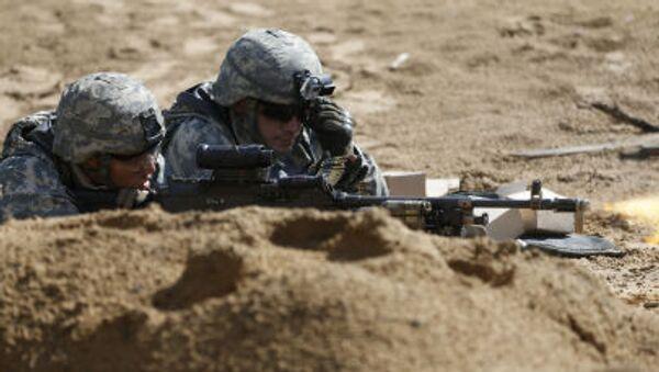 Żołnierze amerykańskie podczas szkoleń wojskowych na Litwie - Sputnik Polska