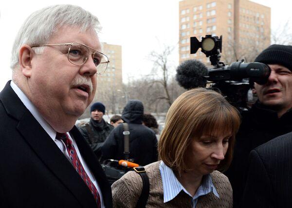 Ambasador USA John Tefft na ceremonii pożegnalnej - Sputnik Polska