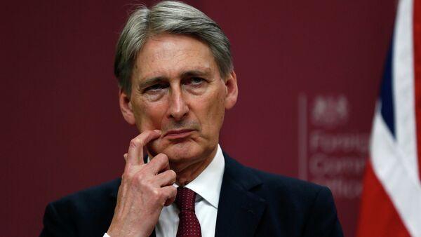 Brytyjski Minister Spraw Zagranicznych Philip Hammond - Sputnik Polska