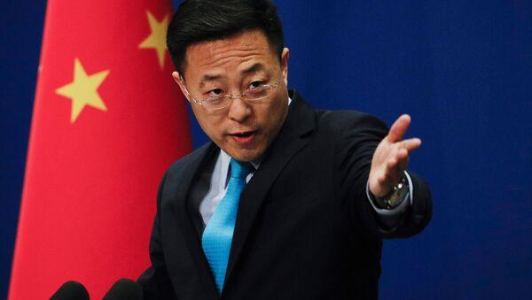 Rzecznik chińskiego MSZ Zhao Lijian. - Sputnik Polska