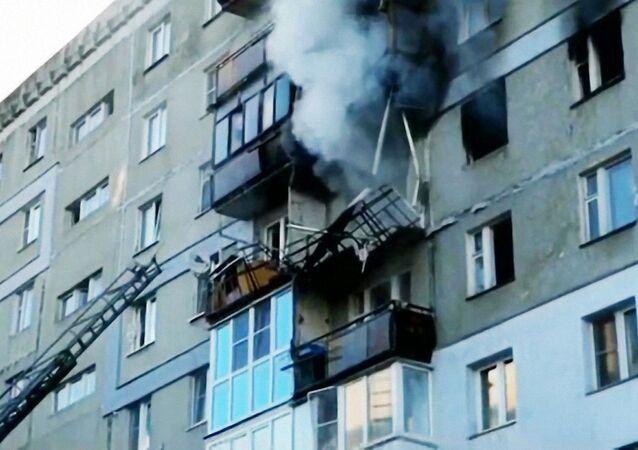 Wybuch gazu w budynku mieszkalnym w Niżnym Nowogrodzie.