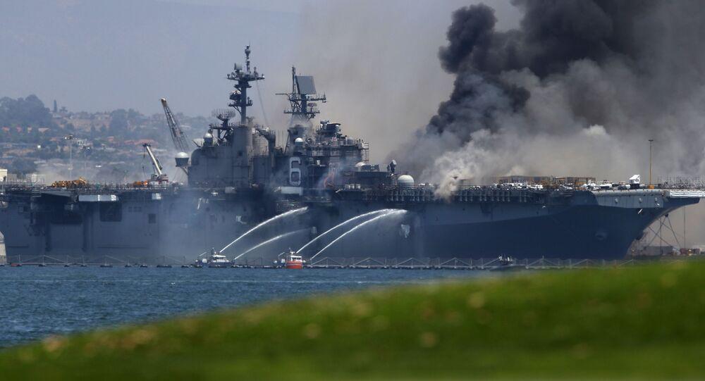 Pożaru na statku USS Bonhomme Richard