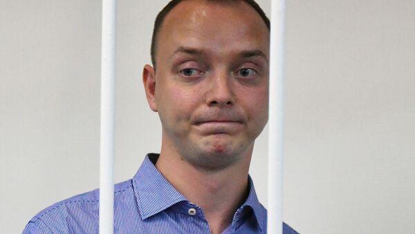 Doradca dyrektora generalnego państwowej korporacji Roskosmos i były dziennikarz Iwan Safronow w sądzie - Sputnik Polska