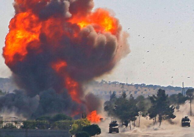 Eksplozja kolumny samochodów w Syrii