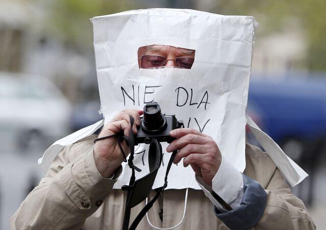 Maska ochronna z torby papierowej, Warszawa
