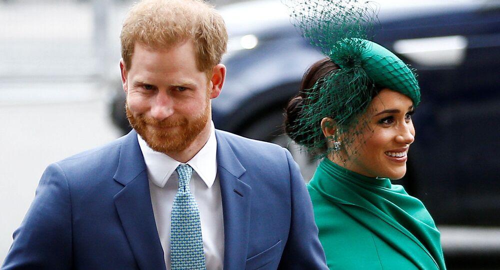 Książę Harry z żoną Meghan Markle w Londynie