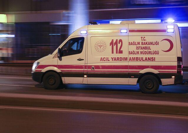 Karetka pogotowia w Turcji.