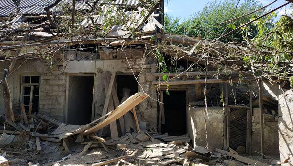 Skutki ostrzału na granicy azerbejdżańsko-ormiańskiej - Sputnik Polska