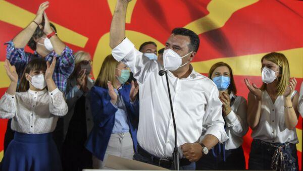 Lider partii SDSM Zoran Zaew. - Sputnik Polska