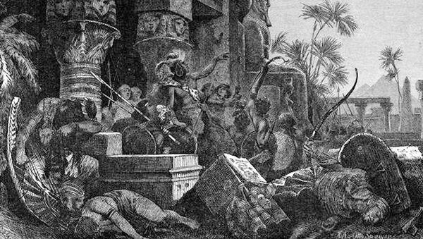Wizerunek hyksoskich najeźdźców od razu po zwycięskiej bitwie z Egipcjanami - Sputnik Polska