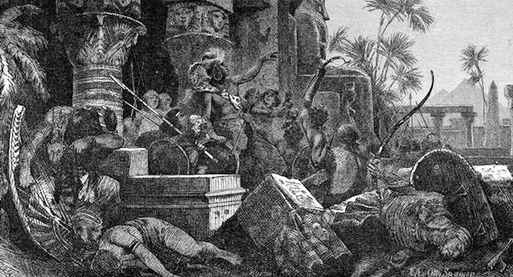 Wizerunek hyksoskich najeźdźców od razu po zwycięskiej bitwie z Egipcjanami