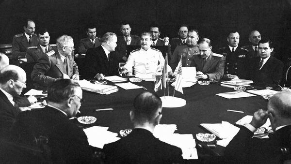Radziecka delegacja na Konferencji Poczdamskiej, 1945 - Sputnik Polska