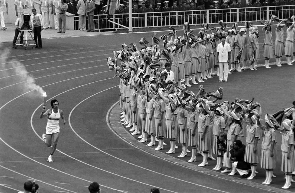 Znicz olimpijski w Moskwie