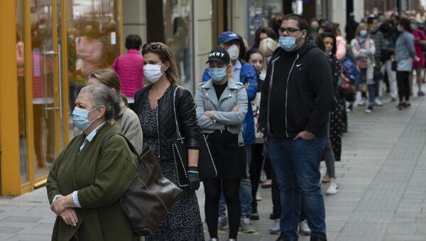 Ludzie w maskach, Wiedeń - Sputnik Polska