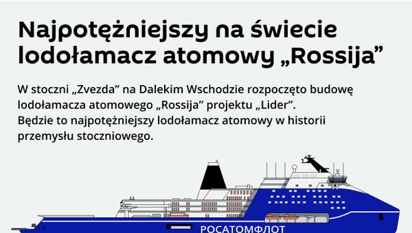 """Rosyjski lodołamacz o napędzie atomowym """"Rossija"""" - Sputnik Polska"""