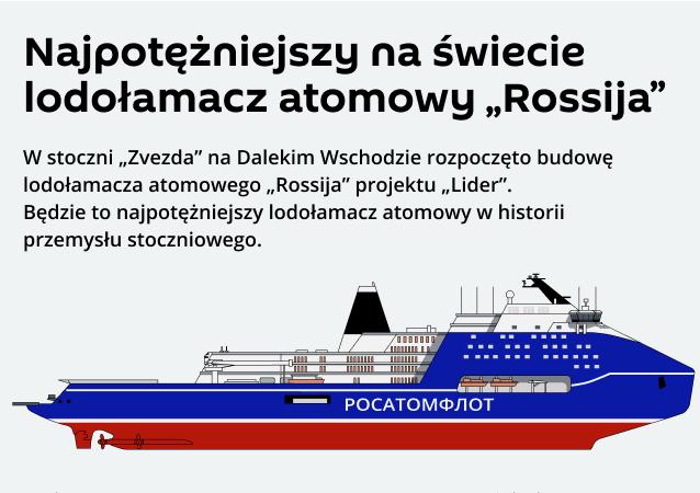 """Rosyjski lodołamacz o napędzie atomowym """"Rossija"""""""