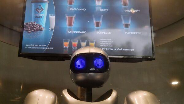 """Robot barista w moskiewskim parku """"Zarjadje  - Sputnik Polska"""