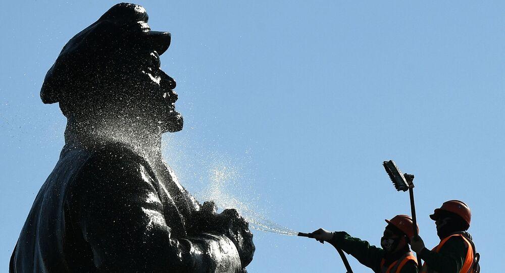 Pomnik Lenina w Krasnojarsku
