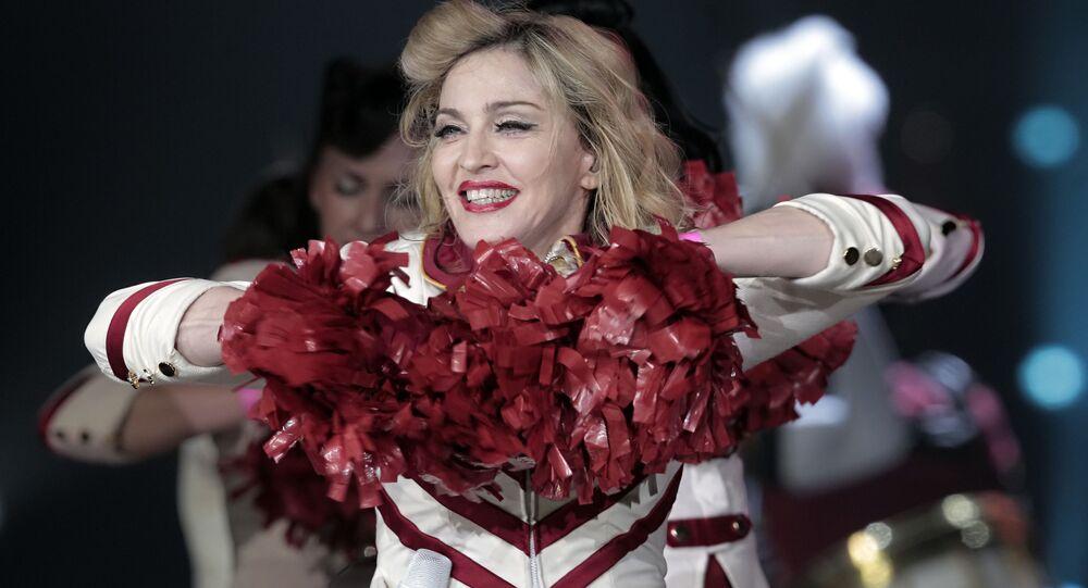 Madonna na koncercie w Petersburgu