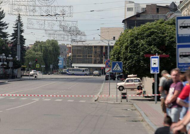 Autobus porwany przez uzbrojonego mężczyznę. Łuck