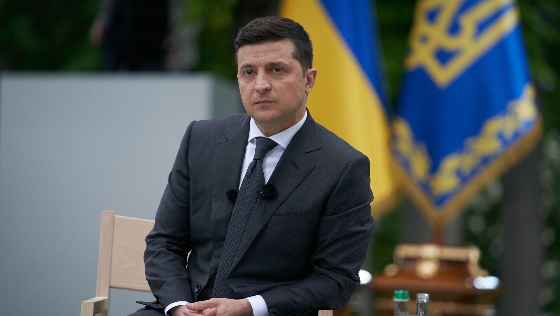 Prezydent Ukrainy Wołodymyr Zełeński. - Sputnik Polska, 1920, 07.04.2021